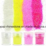 Spijker van de Gem van het Stof van ontwerpen schittert de Veelkleurige Glanzende Decoratie Acryl UV Uiteinden schittert van de Kunst van de Spijker van het Poeder 3D (tP-TP-schitter poeder)