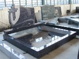 Shanxi 까만 화강암 대리석 인간적인 애완 동물은 묘석 기념물을%s 가진 묘비를 모든 주문을 받아서 만들어진 디자인 닦았다