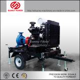 8inch de diesel Pomp van het Water voor LandbouwIrrigatie met Aanhangwagen