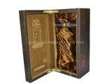 Boîte en carton de papier de papier de texture de cadre de cadeau de vin (YL-014)