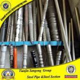 Barriera di recinzione rotonda nera e recintare i tubi d'acciaio