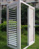Woodgrain-Aluminiumluftschlitz-Fenster mit justierbaren Blendenverschlüssen (BHA-CW07)