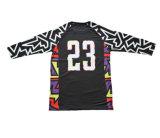Customziedの良質のブランドのスポーツのTシャツの長いバスケットボールジャージー(R006)