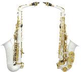 De nieuwe Professionele Saxofoon van de Saxofoon van de Alt van Gold&Silver& Vernikkelde Eb (wss-896)