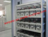 Reemplazo de reserva de carga de la batería del APC de la batería de la UPS del APC de la batería de la UPS del servicio de encargo del estante del estante de la batería del capítulo de acero de las baterías de los estantes de la batería que ensambla
