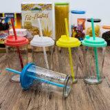 Fles van het Glas van het Sap van de Prijs van de fabriek de In het groot Kleurrijke (100001)