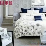 Baumwollstickereiduvet-Deckel-Sets der Qualitäts-400tc