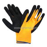 Нитрил покрыл перчатку работы безопасности перчаток перчаток Hi-Viz желтую Nylon