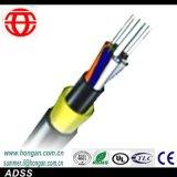 Câble fibre optique extérieur de gaine de PE avec le porteur central de FRP