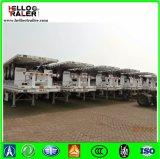 40FT Tri-Welle Hochleistungsflachbett-LKW-Schlussteil mit Behälter-Torsion-Verschlüssen
