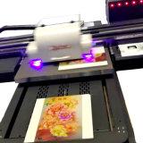 O fabricante 6090 UV de Audley produz o uso Flatbed UV da impressora 60*90cm do diodo emissor de luz do formato pequeno para de vidro/cerâmico/Metal/PVC a maioria de tipos materiais