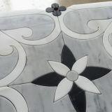 GroßhandelsThassos Weiß und Nero Marquina Marmormosaik-Fliese