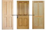 Porte blanche en bois de chêne rouge (porte en bois)