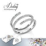Het Kristal van de Juwelen van het lot van Spiraalvormige Ring Swarovski