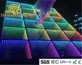 panneau DEL Dance Floor Dance Floor illuminé par les étoiles de danse d'abîme du miroir 3D pour l'exposition d'événements de mariage d'usager d'étape