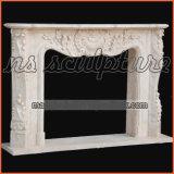 Bordi di marmo del camino del riscaldatore per la decorazione domestica Mf1729