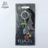 Таможня Jiabo конструировала Flop Flip Keychain металла с множественными шармами