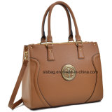 Designer PU Leather Work Satchel Mala de malha Shoulder Bag Women Handbag