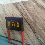 Azulejo de la pared de la losa del mármol del oro de la buena calidad para vender