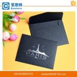 La alta calidad de estampado en caliente Negro Sobre de la tarjeta de papel