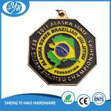 黒いめっき亜鉛合金のバレーボールメダル金属メダル