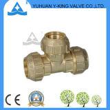 Qualitäts-Messing verlegter Stück-Nippel (YD-6048)