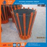 Slittamento di cementazione del martello sul cestino d'acciaio del cemento dell'intelaiatura della barretta della tela di canapa