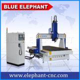 木製の家具、MDF、PVC、アクリルPCBのためのEle1530-4軸線CNCの木製の切り分ける機械