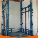 Elevador elétrico hidráulico resistente do carregamento com trilhos de guia