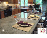 Countertop кухни гранита Prefab естественной каменной бабочки голубой