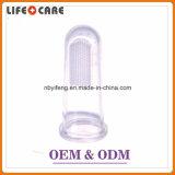 赤ん坊のための工場供給の低価格のシリコーン指の歯ブラシ