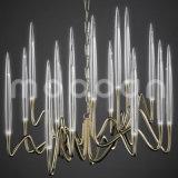 Goldener G4 LED Kristallluxuxleuchter der modernen europäischen Eisen-Metallkunst-für Wohnzimmer
