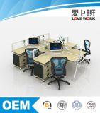 Estação de trabalho T-Shaped do escritório da mesa de escritório para 4 povos