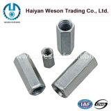 Écrou Hex d'acier inoxydable long/écrou d'accouplement (DIN6334)