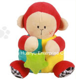 Brinquedo musical enchido luxuoso do macaco do movimento