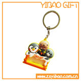 Keyring del PVC de la insignia de Bothside para los regalos de la promoción (YB-PK-41)