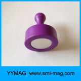 Pin puissant en plastique de poussée d'aimant de bureau d'ABS personnalisé par qualité
