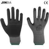 Gants protecteurs de travail tricotés de travail de sûreté de Shell de filé enduits par latex (LS002)