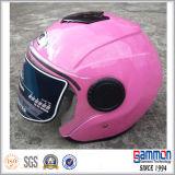 Шлем мотоцикла/самоката стороны поразительного желтого цвета открытый (OP204)