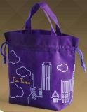 sacs non tissés de réutilisation amicaux de 100GSM Eco pp avec le cordon