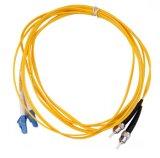 SM 1M de SC/APC 9/125 tresse de fibre optique de 12 faisceaux
