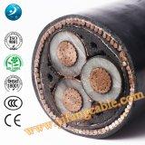 6/10 (11) de quilovolts, cabo distribuidor de corrente do PVC 3X185mm2 do Swa do Al XLPE