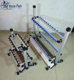 Freier Verschiffen-Großverkauf-faltbare Aluminiumangelruten-Zahnstange