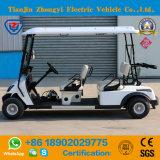 Carro de golf eléctrico de gran alcance de 4 pasajeros, carro de golf de visita turístico de excursión, carro de golf barato para la venta