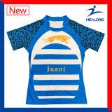 Camisas sublimadas Customate determinadas de Jersey del rugbi del balompié de tacto de la juventud de las personas