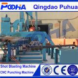 ローラーコンベヤーの鋼管の表面のクリーニングのショットブラスト機械