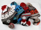 Fashion POM POM Jacquard Knitting Knitted Hat