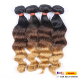 Blond Indian Human Hair Weft Piano Remy Hair Weave