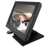 Moniteur résistif d'écran tactile de 12 pouces avec HDMI DVI USB