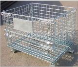 Armazenamento galvanizado dobrável recolhível Stacking Container Wire Mesh